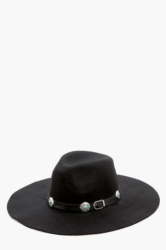 Tegan Western Belt Detail Hat