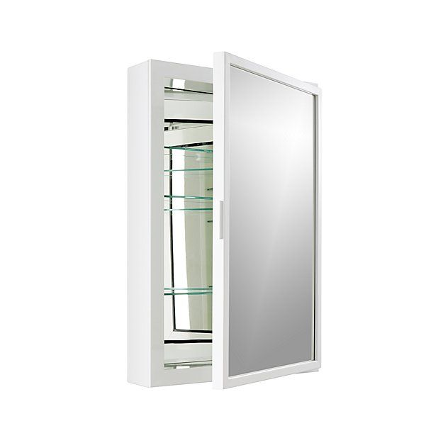 Shop Beau Small White Medicine Cabinet.  Our sophisticated Beau medicine cabinet brings a clean, sophisticated look to both casual and formal baths.