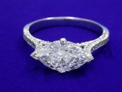marquee cut diamond ring