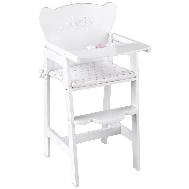 KidKraft Tiffany Bow Lil Doll High Chair - 61111 - 61111