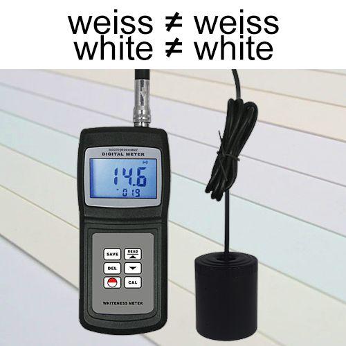 Das Weißgrad-Messgerät / Opazimeter TMT-WM-106 misst den Grad an Helligkeit durch die Bestimmung der Opazität nach ISO 2471 von Materialien wie z.B. Papier, Zellstoff, Stoff, Kunststoff, Porzellan und anderen nicht metallischen Produkten.