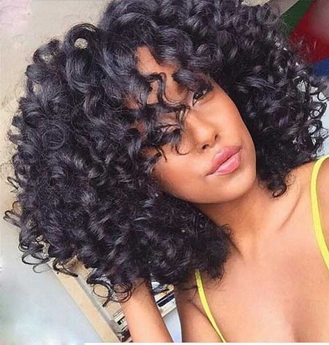 20.Short Curly Weave Hairstyle