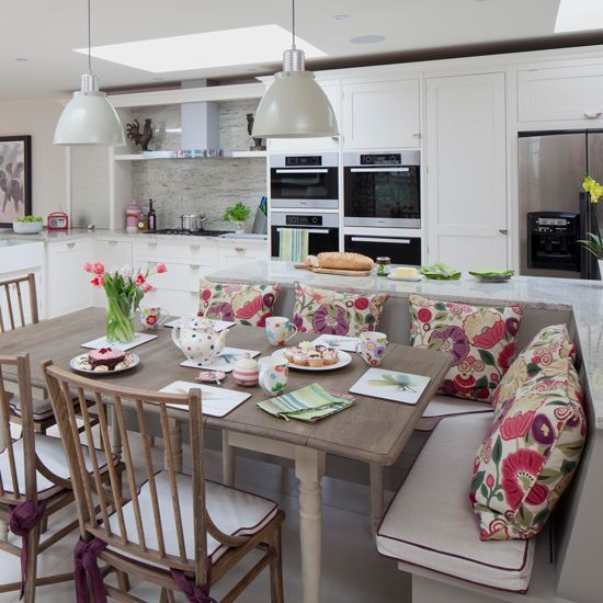 Thought bench seating was just for country schemes? These rooms prove that they work in any kitchen