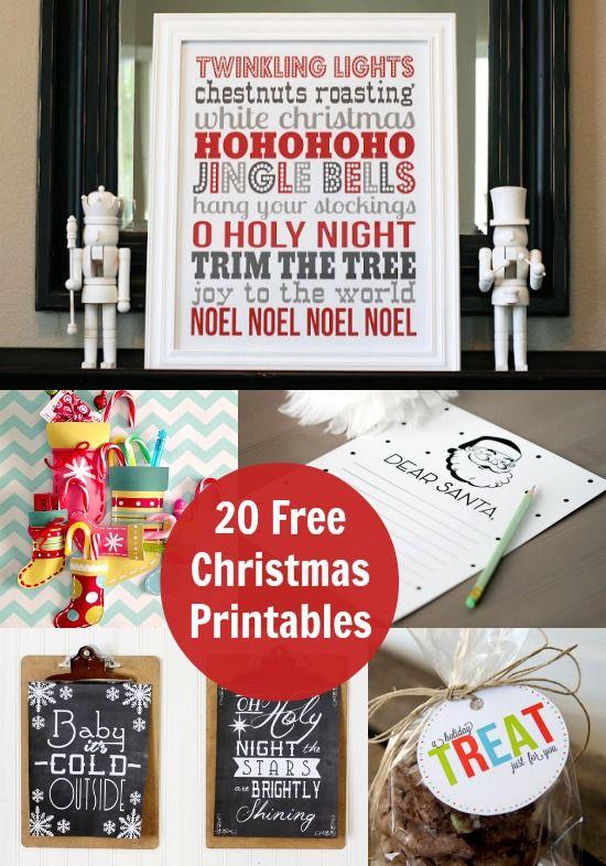20 Free Christmas Printables that you'll love!