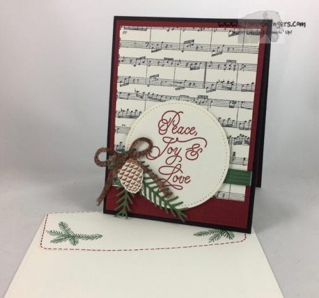 Stampin' Up! Peace This Christmas Sheet Music for the Happy Inkin' Thursday Blog Hop   Stamps – n - Lingers