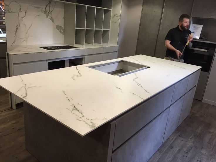 Dekton Aura worktops by The Marble Store. This ultra compact material is ultra modern and bang on trend right now