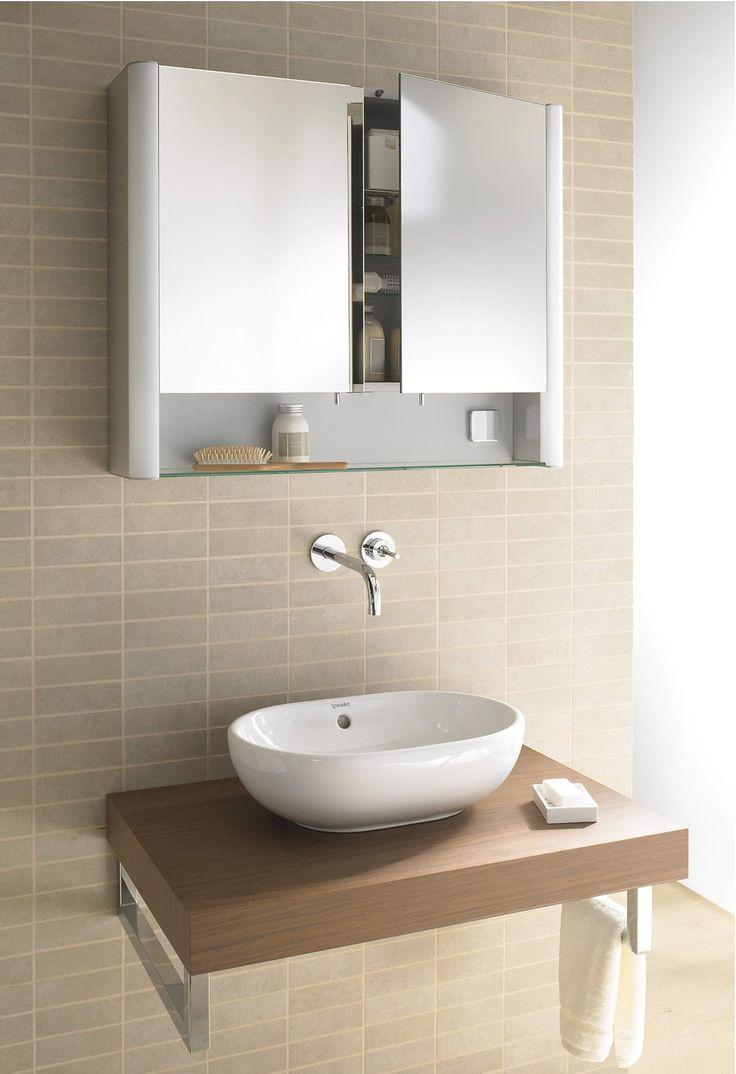 Duravit multibox new 2 door mirror cabinet 600mm depth for Bathroom cabinets 600mm