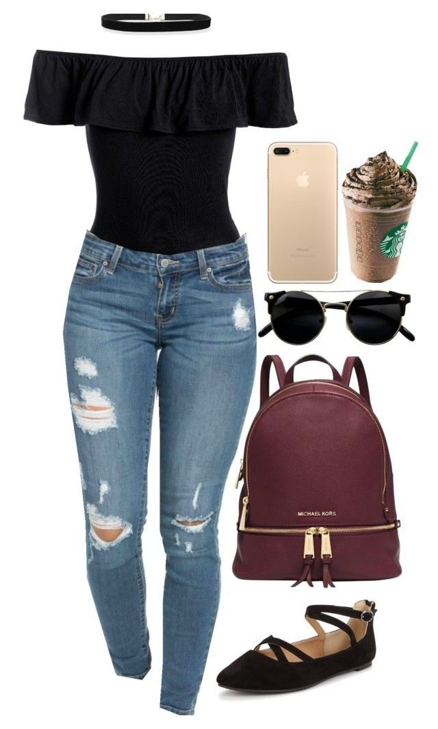 """""""Untitled #234"""" by ardaijapotts on Polyvore featuring Sans Souci, Michael Kors and Head Over Heels"""