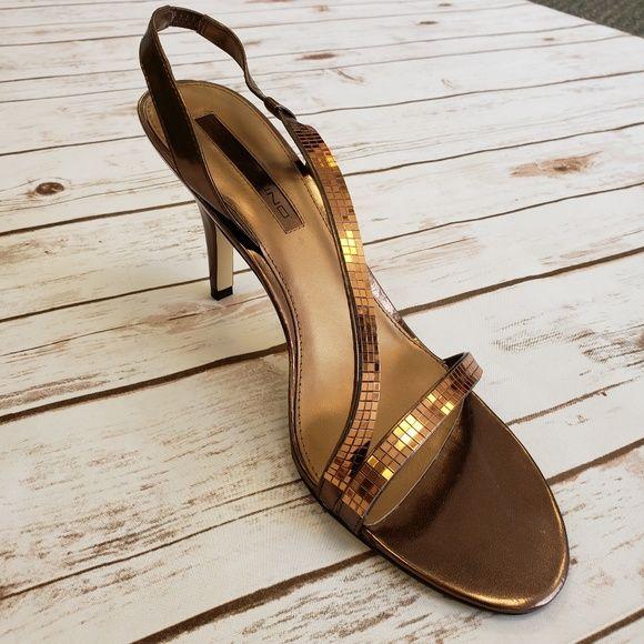 05afbd17e38 NEW Sz 10 Bandolino Rayonna Bronze Slingback Heels New in Box Bandolino  Rayonna Bronze Stretch Man Made Slingback Sandals Size 10 4-1 4