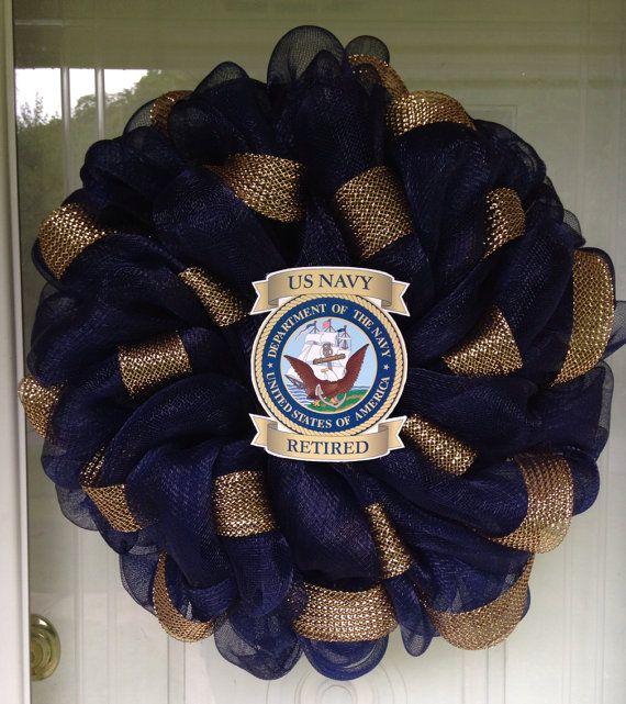 US Navy USA Patriotic Wreath Memorial Day 4th by SassyCraftsinKY