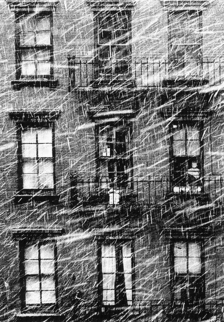Little boy staring at the snow - Paul Himmel, 1950.
