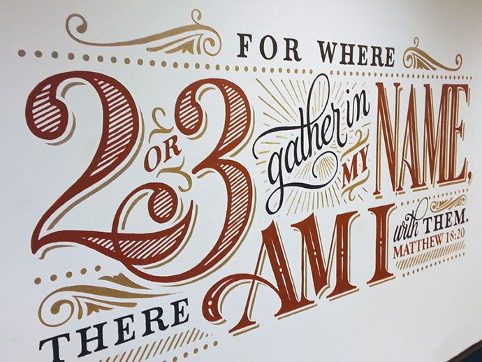 34 Inspiring Typography Wall Mural Designs