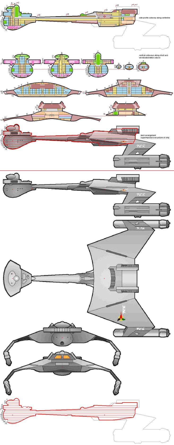Klingon D-7 Cruiser Deck Plans - Part 2