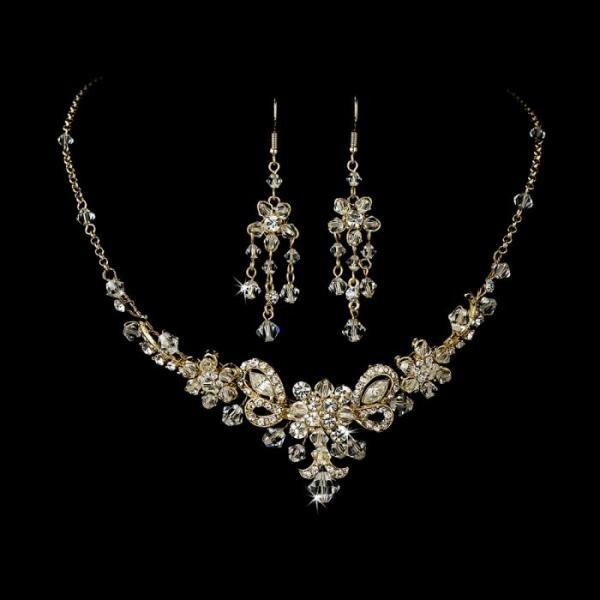 Brautschmuck set swarovski  Die besten 25+ Gold bridal jewellery sets Ideen auf Pinterest ...