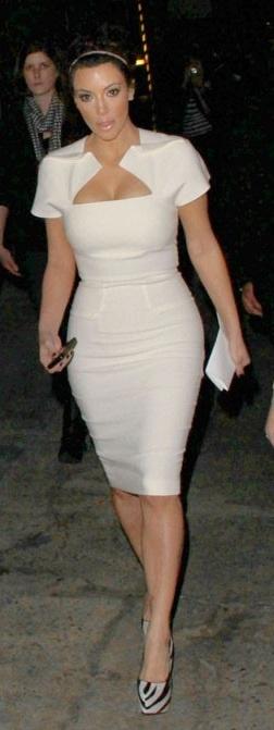 Celeb boutique kim kardashian white dress
