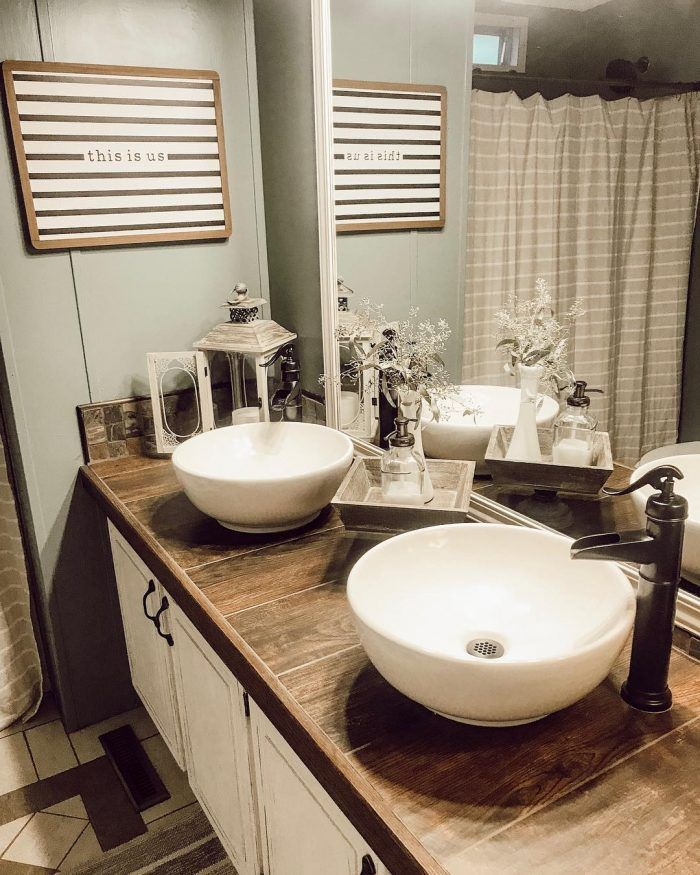 Round Sinks For Country Style Bathroom
