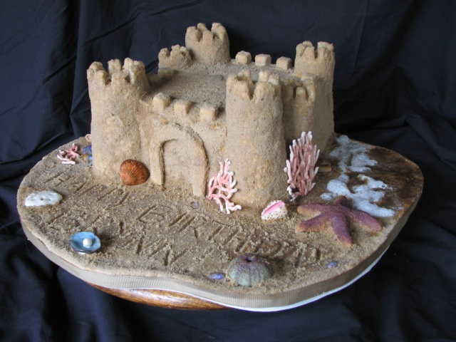 Sand Castle Cake Everything Is Edible Aunt Linda Made