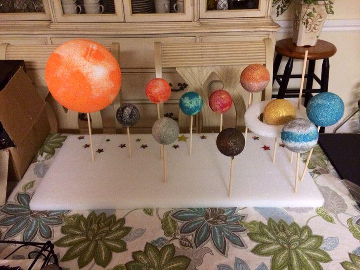 5th Grade Solar System Project Foam Balls Wood Sticks