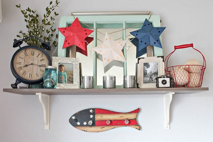 fourth of july summer mantle