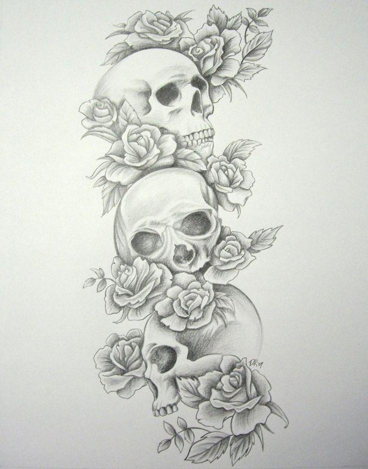 tattoo sleeve designs for girls | Free Download Skull Roses Sleeve By Daniellehope On Deviantart Design ...