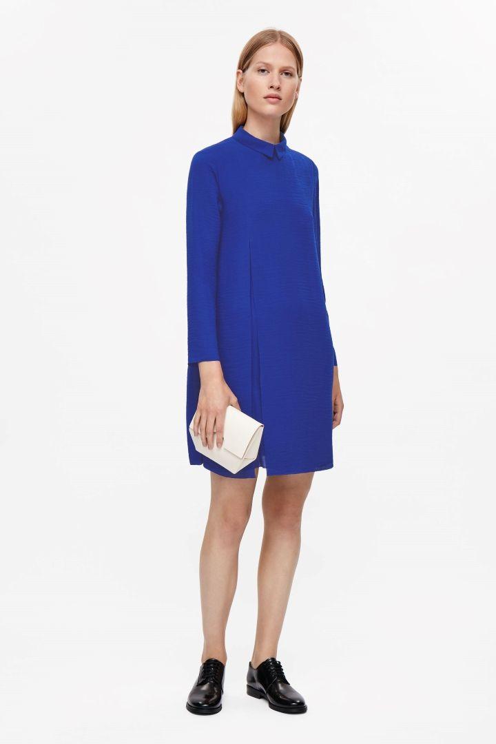 COS | Pleated raw-cut dress