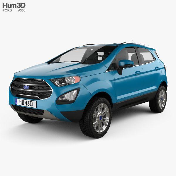 Ford Ecosport Titanium 2017 3d model from Hum3D.com.