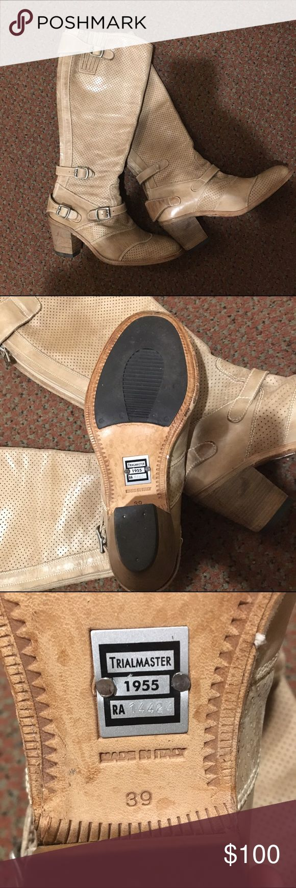 Belstaff Trailmaster Boots 1955 I am selling Belstaff boots. They are leather and very comfortable. I wore them a couple of times and got plenty of compliments. I am simply selling them because I got a new pair of boots. Belstaff Shoes Heeled Boots