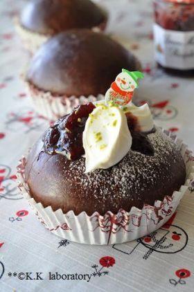 「クリスマス風ラズベリーココアブリオッシュ」nonnon | お菓子・パンのレシピや作り方【corecle*コレクル】