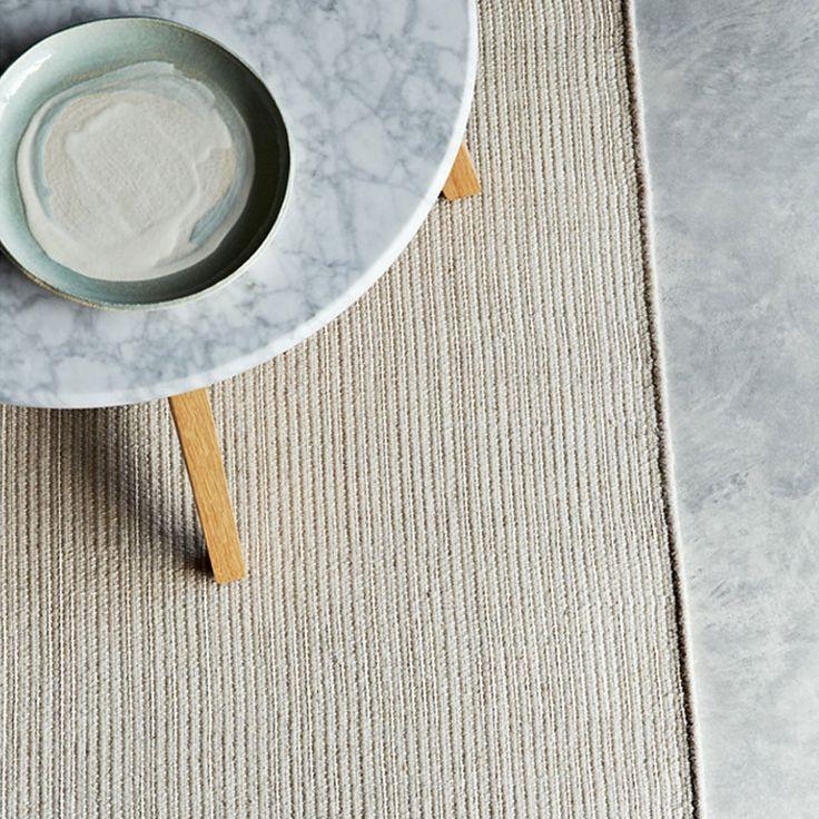 LOVE Armadillo Co Designer Rope Weave Wool Rug- Natural Beige/Cream