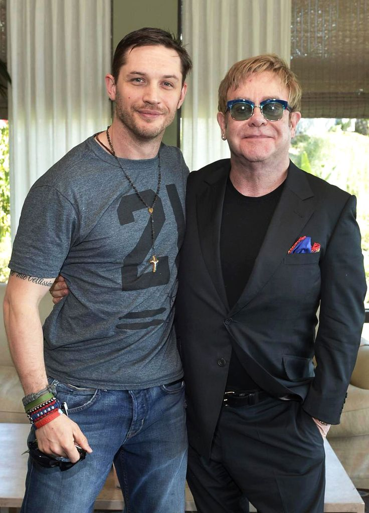 Tom and Elton <3  (Tommy looks like he is putting some weight back on! Looking all soft and sweet like I like him <3)