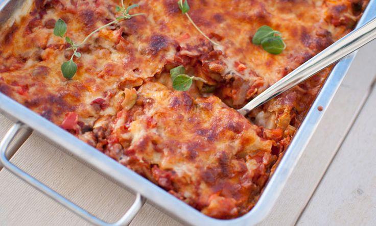 Visste du at lasagne, pasta og taco kan lages helt uten kjøtt? Her er tre fantastiske oppskrifter på kjøttfri middag!