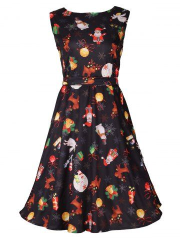 GET $50 NOW | Join RoseGal: Get YOUR $50 NOW!http://www.rosegal.com/print-dresses/christmas-print-sleeveless-flare-dress-945271.html?seid=2275071rg945271