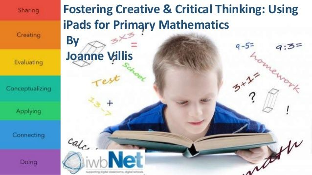 Fostering Creative and Critical Thinking using iPads in Primary Mathematics