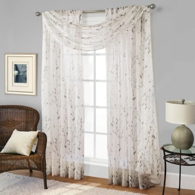 Willow Print Window Scarf Valance In Blue