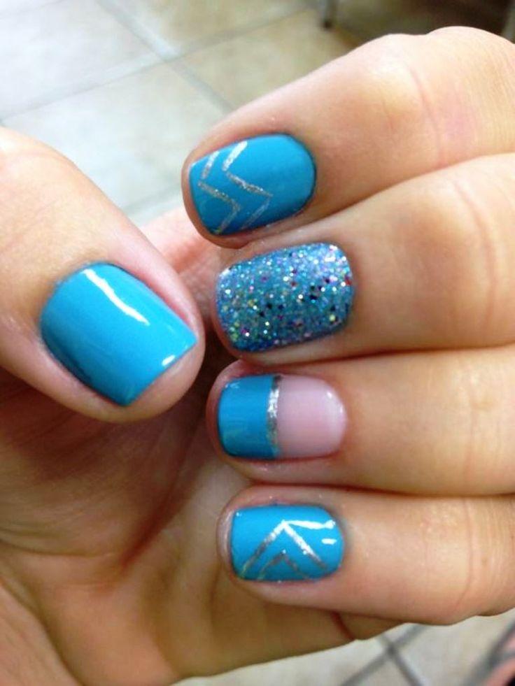 Blue Nail Trend: 25+ Best Light Blue Nail Designs Ideas On Pinterest