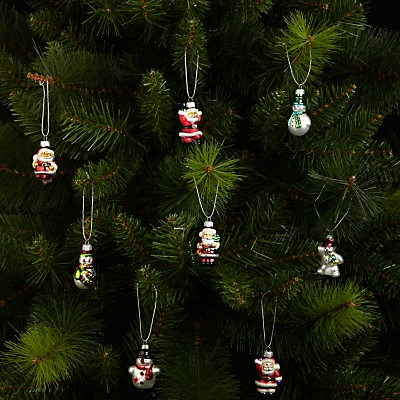 The John Lewis decorations on a tree. . .