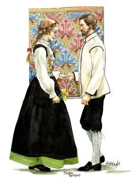 Sogn Couple | Nordic Folklore