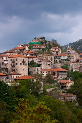 Demitsana village in Peloponnese