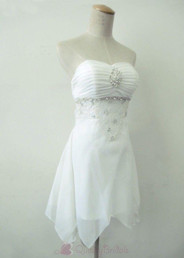 Short Beach Wedding Dresses | Short Beach Informal Summer Designer Destination Wedding Dress W1482