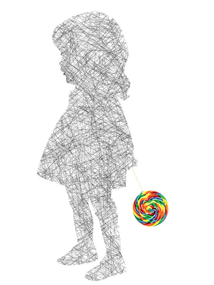 """Lollipop Girl"", acrylic on perspex, Lisa Grennell"