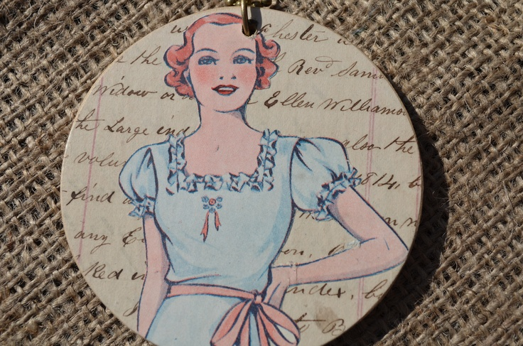 Vintage Paper Necklace