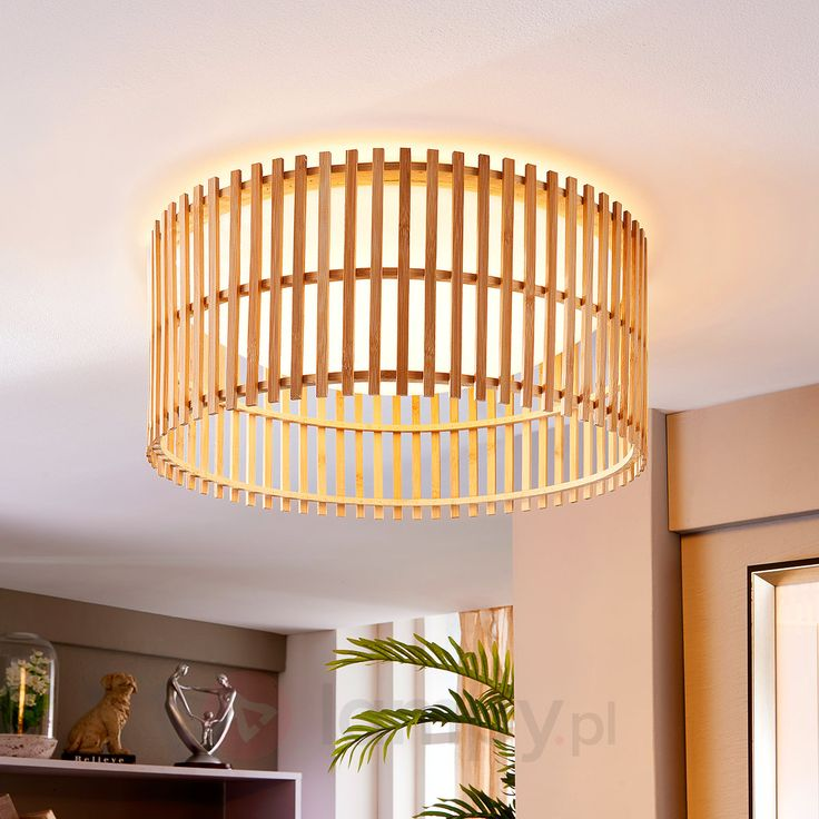 Lampa sufitowa LED Leja z łodygami bambusa 9620904