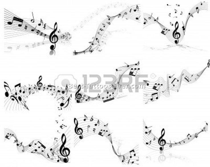 music staff tattoo 3