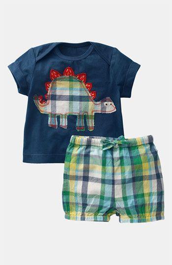 Mini Boden Shirt & Shorts Set (Infant) | Nordstrom