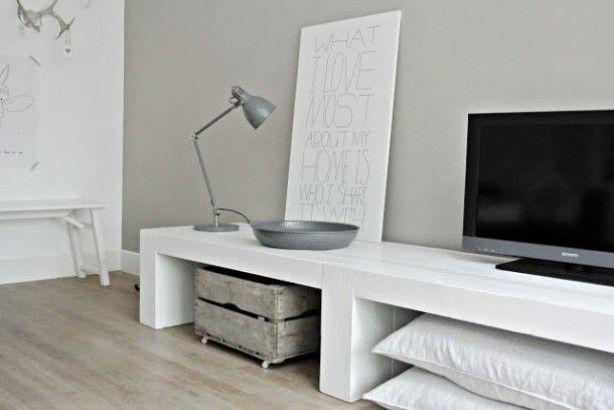Mooi wit steigerhout tv meubel