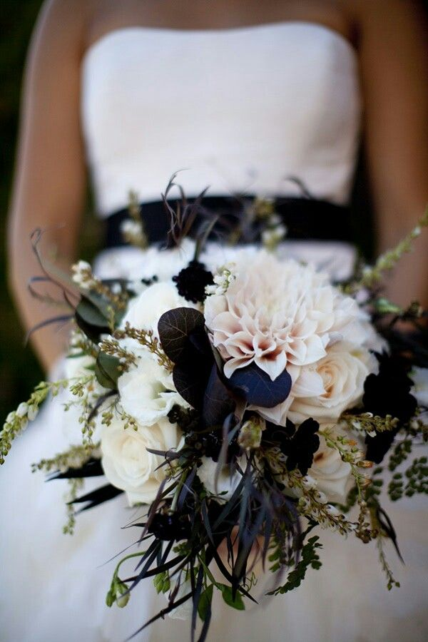 Bride's Bouquet With: White Lisianthus, Cream Roses, Cream ...