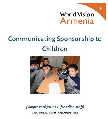 A set of fun and practical ideas for communicating child sponsorship to…
