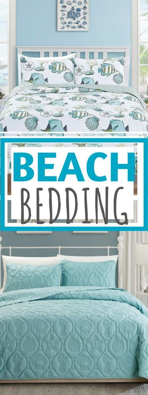 BEACH BEDDING SETS! Discover the best beach themed comforters, bedding, quilts, duvet covers, and more.