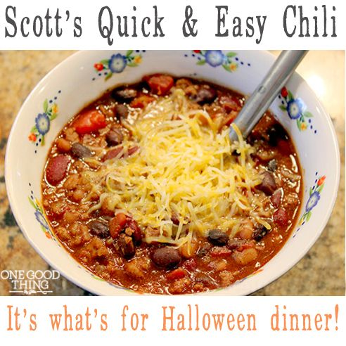 Scott's Quick and Easy Chili - A very sweet chili. A bit too sweet for ...