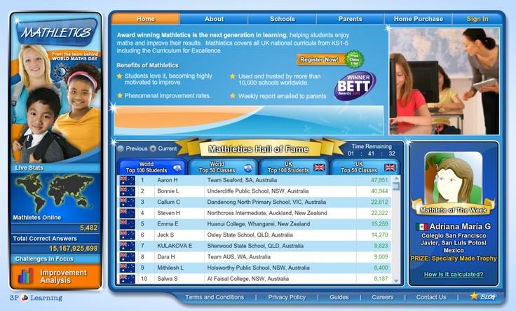 mathletics http//www.mathletics.eu/ Online Math games